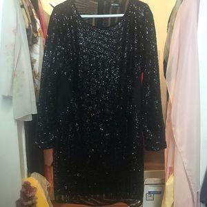 Black sparkle dress 22
